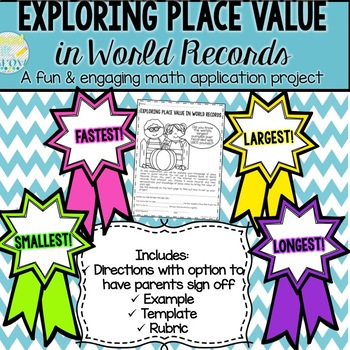 Place Value in World Records Project