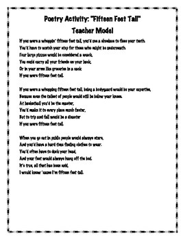 """Exploring Point of View Through Poetry: """"One Inch Tall"""" by Shel Silverstein"""