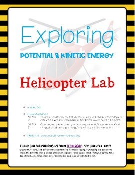 Exploring Potential/Kinetic Energy_Helicopter Lab