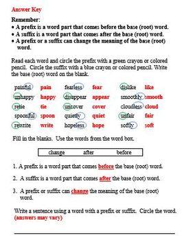 Exploring Prefixes and Suffixes