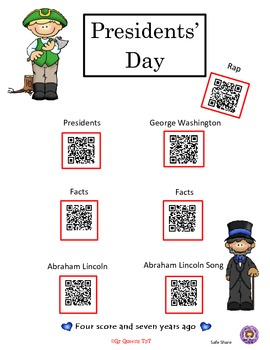 Presidents' Day with QR codes