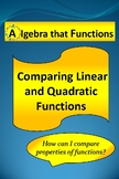 Comparing Linear and Quadratic Functions