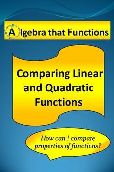 Quadratic, Linear, Exponential, Functions Properties Activity