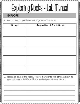 Rocks - Investigation Notebook