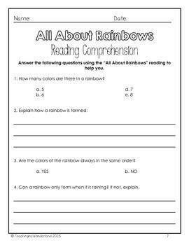 Exploring Rainbows Activity Packet