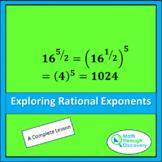 Algebra 1 - Exploring Rational Exponents