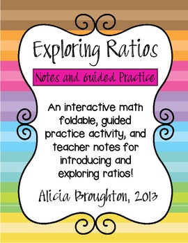 Exploring Ratios: Math Foldable and Guided Practice Activity