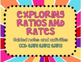 Exploring Ratios and Rates Notes and Activities