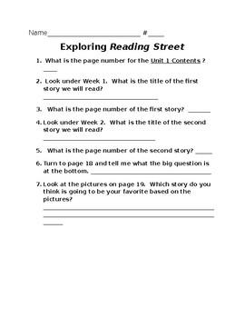 Exploring Reading Street