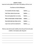 Exploring Rhythm in Poetry Worksheets