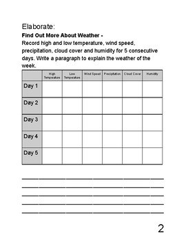 Exploring Science - Earth Science (Weather and Climate) - Science Notebook