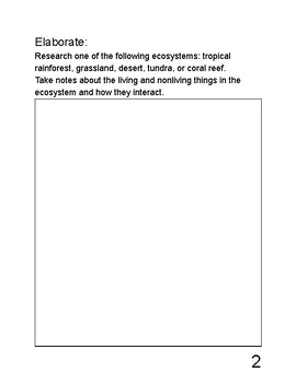 Exploring Science - Life Science (Ecosystems) - Science Notebook