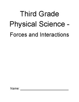 Exploring Science - Physical Science - Science Notebook (First 4 Lessons)