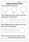 Exploring Secondary Colours Extension Worksheet