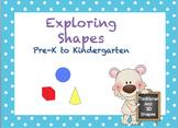 Exploring Shapes Pre-K to Kindergarten