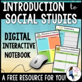 Exploring Social Studies Digital Interactive Notebook for Google Drive
