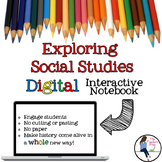 Exploring Social Studies Digital Interactive Notebook for Google Drive