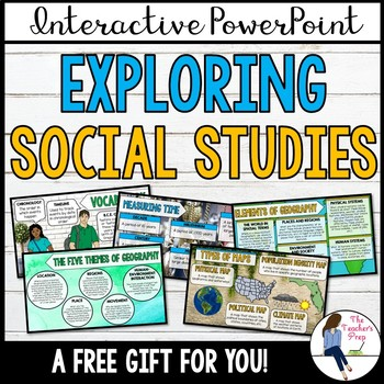 Exploring Social Studies Interactive PowerPoint Notes for Back to School FREE