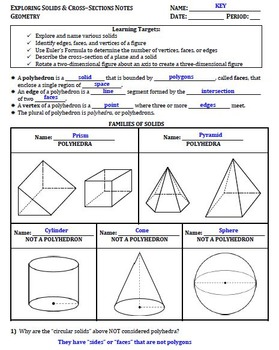 Exploring Solids-Euler-CrossSections Guided Notes for Geometry