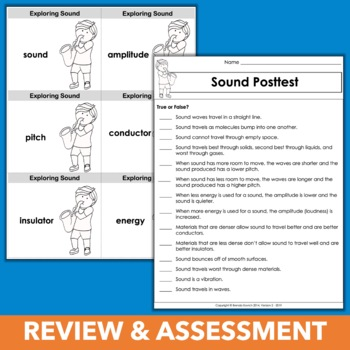Sound Energy Stations, Experiments, STEM, and Assessment - Complete Unit