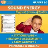 Sound Energy Stations, Experiments, STEM, and Assessment -