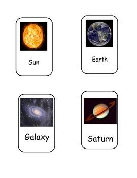 Exploring Space Bingo