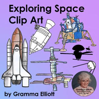Exploring Space Clip Art