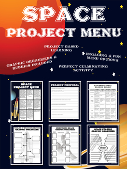 Exploring Space Project Menu – Distance Learning