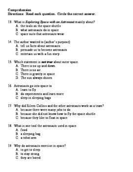 Exploring Space Reading Street Second Grade Selection Test More