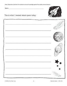 Exploring Space (Teacher Directions & Logbook)