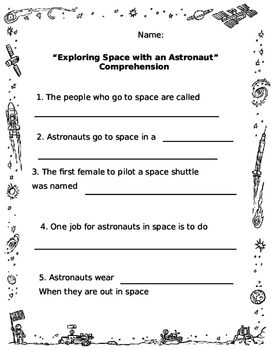 Exploring Space with an Astronaut Comprehension