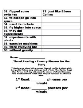 Exploring Space with an Astronaut Fluency Phrases