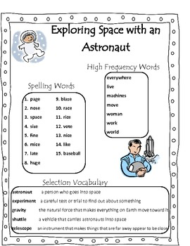 Exploring Space with an Astronaut Scott Foresman Common Core Grade 2