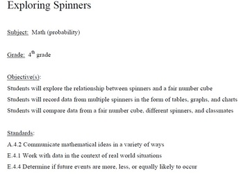 Exploring Spinners Activity