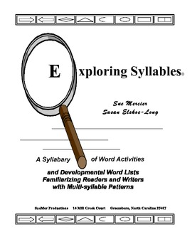 Exploring Syllables - Multisyllabic Word Sort Book and Teachers Guide Grades K-5