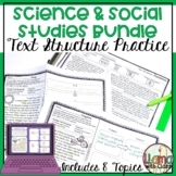 Text Structure w/ Science & Social Studies Printable Distance Learning