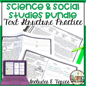 Exploring Text Structure Science and Social Studies Bundle