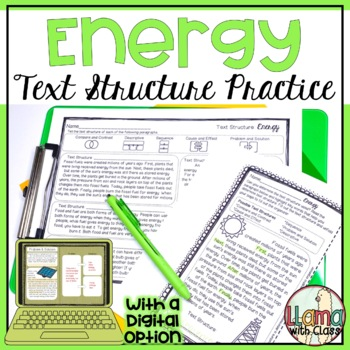 Exploring Text Structure with Energy