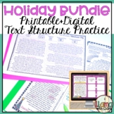 Holiday Text Structure Bundle