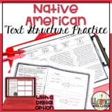 Native American Text Structure Worksheets