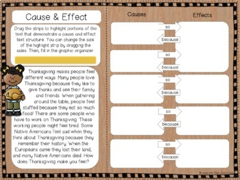 Exploring Text Structure with Thanksgiving