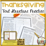 Thanksgiving Text Structure Worksheets