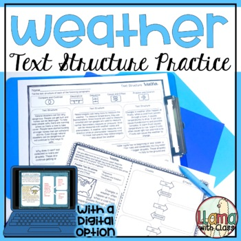 Weather Text Structure Practice