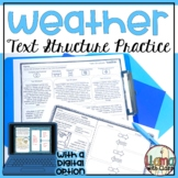 Weather Text Structure Worksheets
