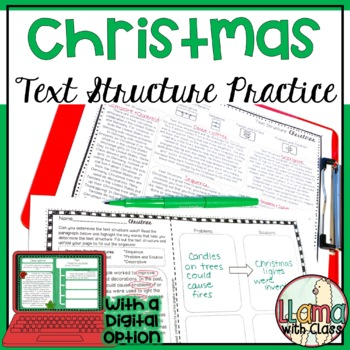 Exploring Text Structure with Christmas
