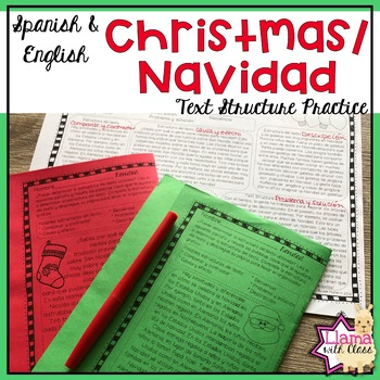 Exploring Text Structure with Christmas English & Spanish Edition