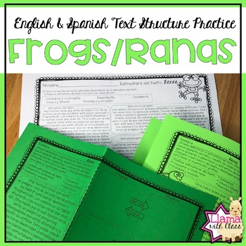 Frogs Text Structure Practice in English & Spanish