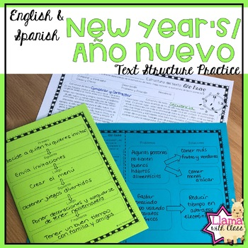 Exploring Text Structure with New Year's English and Spani