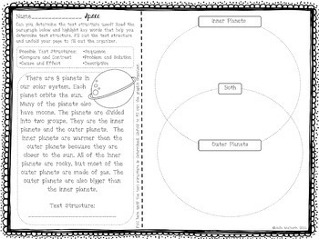 Exploring Text Structure with Space (English & Spanish edition)