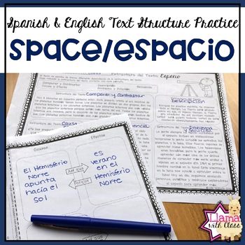 Space Text Structure Practice in English & Spanish